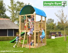 Wooden_climbing_frames_for_children_Jungle_Farm_Firemans_Pole_1511