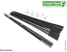 Stahové tyčky pro herní sestavu Farm od Jungle Gym